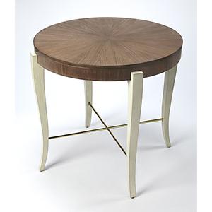 Loft Blanchard Light Cocoa Wood Foyer Table