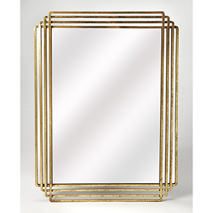 Reflections Antique Gold Uptown Rectangular Wall Mirror
