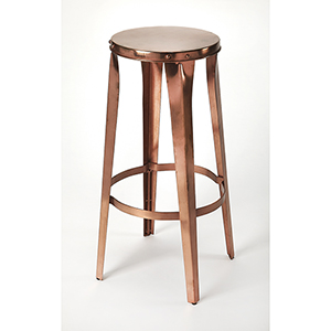 Industrial Chic Copper Ulrich Backless Bar Stool