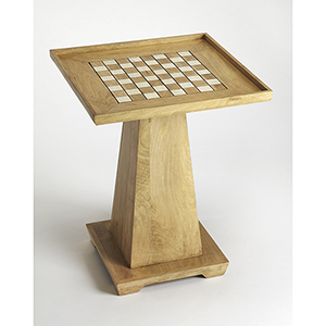 Butler Loft Levon Natural Mango Chess Game Table