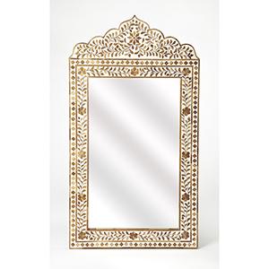 Bone Inlay Vivienne Wood Mirror