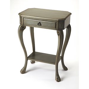 Masterpiece Channing Silver Satin Console Table