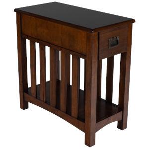 Larina Antique Dark Bronze Chairside Table