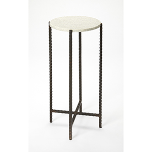 Butler Loft Marble and Metal Nigella Round Accent Table
