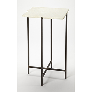 Butler Loft Marble and Metal Nigella Square Accent Table