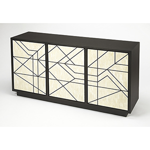Bone Inlay Black Greta Sideboard