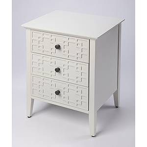 Loft Kinsley Glossy White Three-Drawer Accent Chest