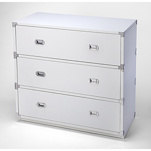 Butler Loft Anew White Three-Drawer Campaign Chest