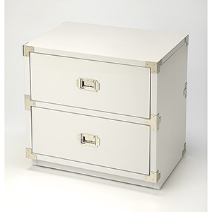 Butler Loft Anew White Two-Drawer Campaign Chest