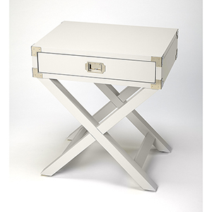 Butler Loft Anew White Campaign Side Table