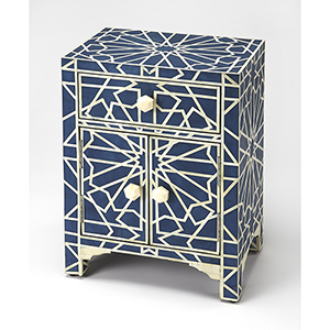 Bone Inlay Camile Blue Accent Chest