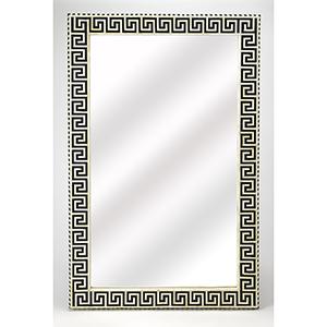 Bone Inlay Eternity Black Wall Mirror