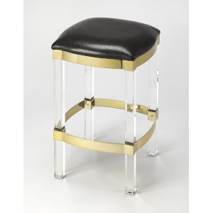 Black 24-Inch Counter Bar Stool