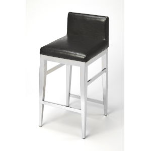 Black 32-Inch Counter Bar Stool