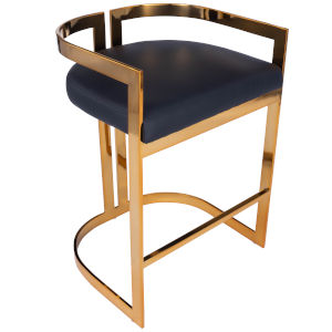 Clarence Gold and Black Bar Stool