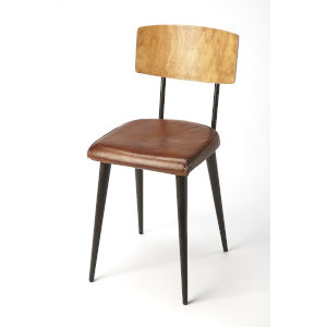 Brown 32-Inch Side Chair