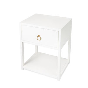 Lark White 21-Inch Rectangular End Table
