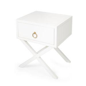 Lark White 19-Inch Rectangular End Table