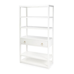 Lark White 39-Inch Rectangular Bookshelf