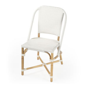 Designers Edge Tenor White and Beige Dining Chair