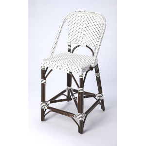 White 41-Inch Bar Stool