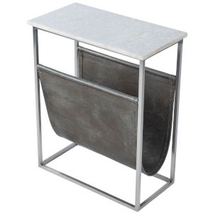 Koler Gray and Black Magazine Table
