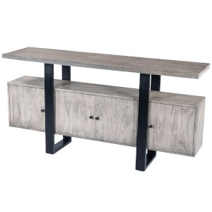 Raitis Gray and Black Sideboard