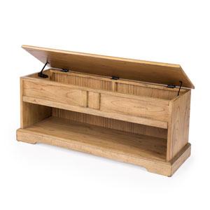 Efrem Natural Wood Storage Bench