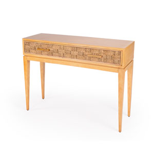 Faddei Natural Wood Console Table