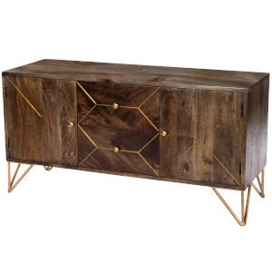 Alda Brown and Brass Entertainment Console