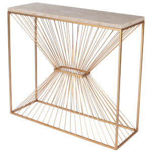 Cosmo Antique Gold Console Table