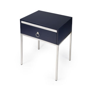 Monika Blue 22-Inch Rectangular End Table