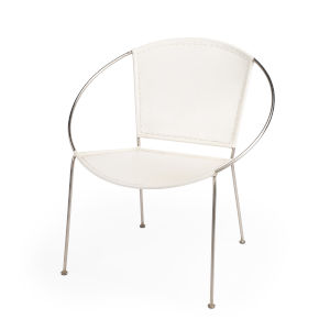 Accent Seating Milo White Accent Chair