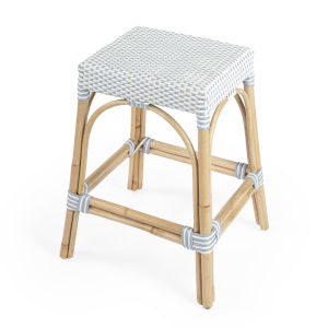 Designers Edge Robias Light Blue and Beige Counter Stool