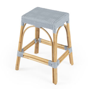 Designers Edge Robias Blue and Beige Counter Stool