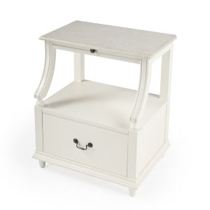 Masterpiece Danielle White Nightstand