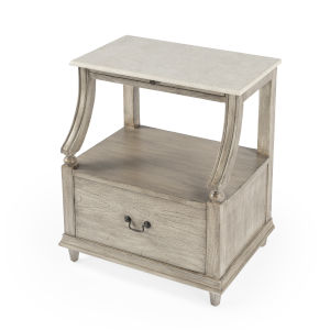 Masterpiece Danielle Gray Nightstand