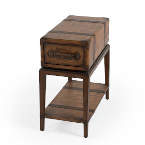 Heritage Vasco Brown Chairside Table