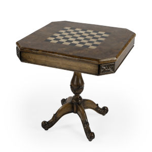 Heritage Carlyle Dark Brown Square Game Table