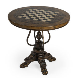 Heritage Carlyle Dark Brown Round Game Table