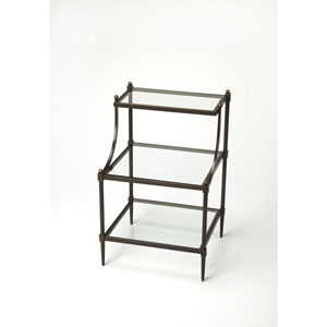 Light Bronze Tiered Side Table