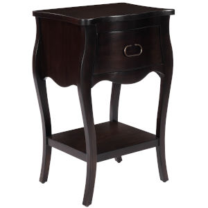 Rochelle Chocolate One Drawer Nightstand