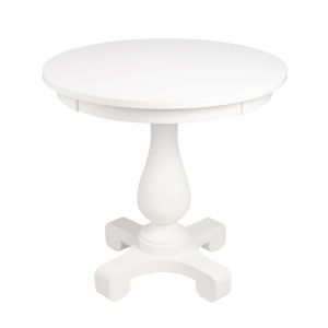 Millard Cottage White 30-Inch Round End Table
