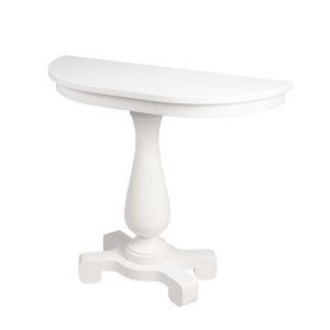 Millard Cottage White 38-Inch Demilune Demilune Console Table