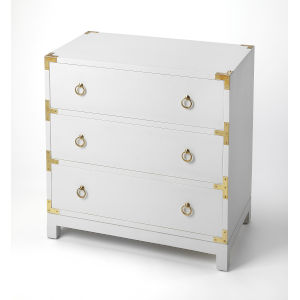 White 28-Inch Chests