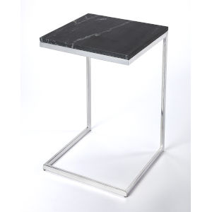 Black 26-Inch Accent End Table