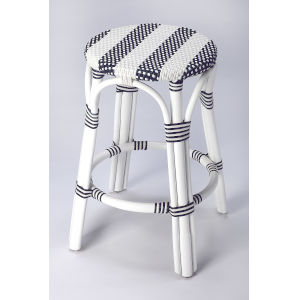White 24-Inch Counter Bar Stool