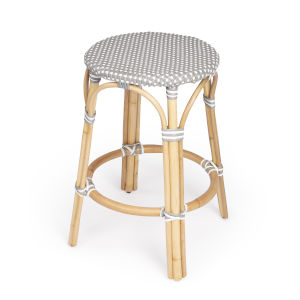 Tobias Grey 16-Inch Round Counter Stool