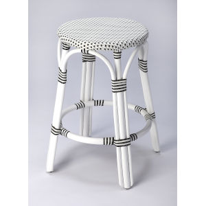 White Counter Bar Stool