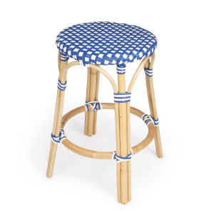 Tobias Sky Blue 16-Inch Round Counter Stool